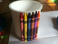 Make a Crayon Cup now that the new crayon smell is arriving in stores near you!