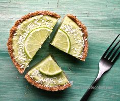 Raw Coconut Lime Tart. completely raw as well as nut-free, a perfectly sweet way to welcome in the new season.
