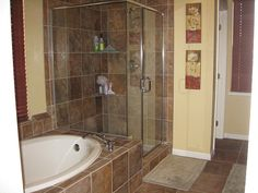 Tile on pinterest earth tones slate tile floors and tile for Bathroom decor earth tones