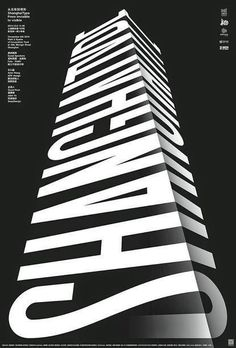 black and white graphic design poster typography ////graphic&illustration Graphisches Design, Typo Design, Graphic Design Posters, Graphic Design Typography, Lettering Design, Graphic Design Inspiration, Layout Design, 3d Typography, Japanese Typography