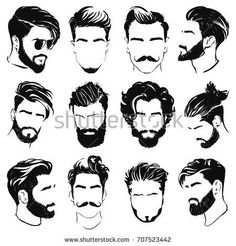 Drawing Reference Men Hair Style Ideas For 2019 Mens Hairstyles With Beard, Hair And Beard Styles, Haircuts For Men, Trendy Hairstyles, Long Hair Styles, Hairstyle Men, Barber Hairstyles, Medium Hairstyles, Drawing Male Hair