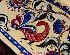 "Sunstone Folk Art: Uftug painting "" Greeting card"" - Уфтюжская роспись ""Открытка"""