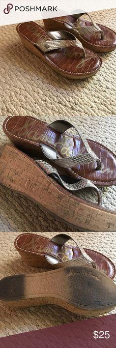 Sam Edelman wedges Silver snake skin strap Sam Edelman wedges Shoes Wedges