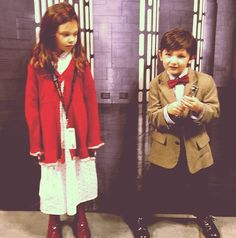 kids cosplay Amelia Pond and Eleventh Doctor at New York Comic Con