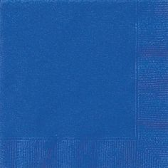 Luncheon Napkins Color Party Tableware Made from Paper Bright Royal Blue by Amscan 20 Pieces