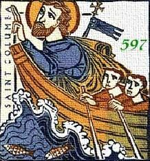 Saint Columba of Iona pray for us and against floods, poets, Ireland and Scotland.  Feast day June 9.