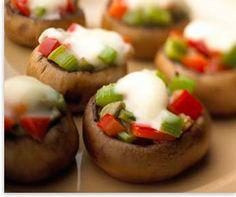 Crème De Brie Stuffed Mushrooms | 1000bites.com