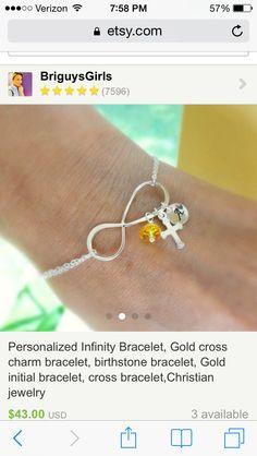 With Love written in the infinity symbol.   Otisbjewelry.com