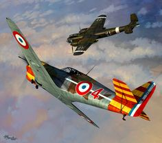 Bloch MB 155 of GC in combat with a Dornier Do 217 E from KG 2 during Operation Anton, November 1942 by Jerry Boucher Aviation Theme, Aviation World, Aviation Art, Ww2 Aircraft, Military Aircraft, Air Fighter, Fighter Jets, Aircraft Painting, Airplane Art