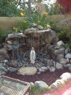 Backyard Mary grotto