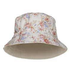 6b0dc634cb7 Vintage Flowers Design Printed Bucket Hat Buckets
