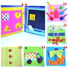 Quiet book toddler busy book felt book sensory book preschool activity book gift for a baby shower Preschool Activity Books, Book Activities, Magnetic Drawing Board, Felt Books, Quiet Books, Birthday Activities, Sensory Book, Quiet Book Patterns, Travel Toys