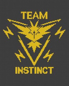 The set of 4 patterns pdf: Select your team, team instinct, team instinct, team mystic. The pattern will fit nicely in a 8x10 frame (or 20 cm x 25 cm) on 14 count fabric.  ★★★ Pattern specifications ★★★ This listing is for the PDF pattern only! Just download, print and cross-stitch!  ✔ Stitches used: full cross stitch.  Cross stitch chart - Select your team: ✔ DMC Colors: 5 pieces (№ 310, 5200, 817, 444, 825). ✔ Design size in stitches: 91 x 115 ✔ Design size in inches and centimeters…