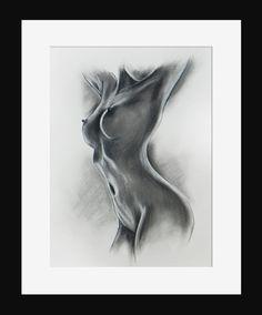 Rysunek sucha pastel, akt kobiety. w Roanstudio na DaWanda.com