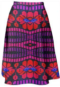 Boho Girl Women's  A-Line midi Skirt  by Marijke Verkerk Design. Feel Good Fashion & Living® www.marijkeverkerkdesign.nl
