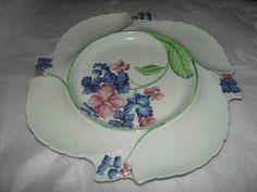 Carlton Ware, High Class, Hydrangea, Decorative Plates, Ceramics, Tea, Tableware, Ceramica, Pottery