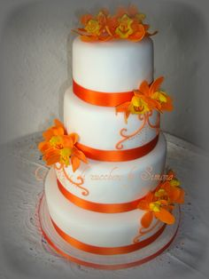 Wedding orchidee arancioni -   Delizie di Zucchero by Simona