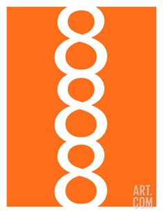 Orange Figure 8 Design at Art.com