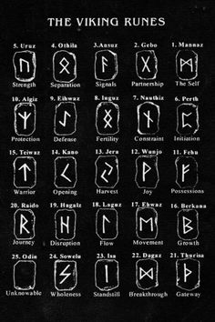 The Viking Runes. The eldest runestones, inscribed with Norse runes, date from the century. These were the Elder Futhark runes. However, the most of the runestones were created during the late Viking Age and thus inscribed with theYounger Futhark runes. Norse Runes, Rune Viking, Elder Futhark Runes, Viking Age, Wicca Runes, Celtic Runes, Viking Protection Rune, Witchcraft Symbols, Protection Symbols