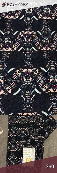 🦄MAJOR UNICORN🦄 ELEPHANT LuLaRoe OS leggings 🦄 DONT MISS THESE. LuLaRoe OS black background with amazing elephants placed perfectly. These are hard to get and major🦄🦄🦄🦄. NEW. NEVER WORN. LuLaRoe Pants Leggings
