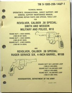 Gun - Pistol - Military Book -  TM 9-1005-206-14&P-1  #Military