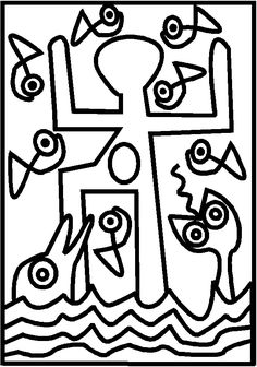 71 coloring works of painters to print. Pattern Coloring Pages, Colouring Pages, Keith Haring, Artists For Kids, Art For Kids, Art Montessori, Montessori Elementary, Arte Elemental, Ecole Art