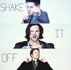 Lol supernatural cast dances to supernatural parody shake ot off