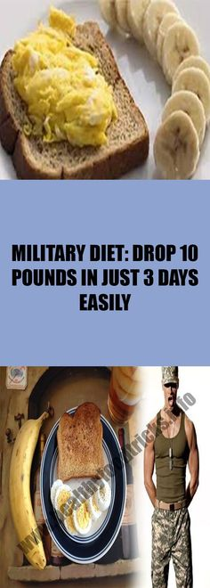 MILITARY DIET: DROP 10 POUNDS IN JUST 3 DAYS EASILY – Healthy Food Tricks
