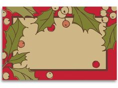 50 pack Holiday Holly- No SentimentEnclosure Cards (20 unit, 50 pack per unit.) ** To view further for this item, visit the image link.
