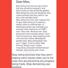 """should be """"dear people"""" instead of """"dear men"""" imo but whatever♀️"""
