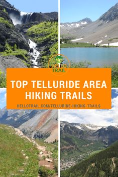 Try out any of the top 10 Telluride area hiking trails and you will be booking your return trip before leaving town. Hikes like the Bear Creek Trail, Lake Hope Trail and Bridal Veil Falls are just a sampling of what Telluride has to offer. Colorado Trail, Road Trip To Colorado, Colorado Springs, Backpacking Trails, Hiking Trails, Places To Travel, Places To Go, Travel Things, Alta Lakes