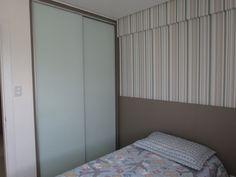 Móveis Planejados Salvador-BA - Guarda roupa  Porta Vidro branco pintado