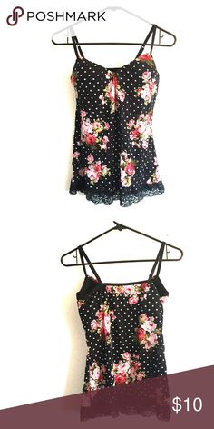 Tank with built in bra- size medium This tank is great for summer. Built in bra, adjustable straps, and soft, flowy torso Tops Tank Tops