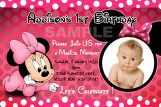 Minnie Mouse Birthday Party Invitations Disney by maricamer11, $14.99
