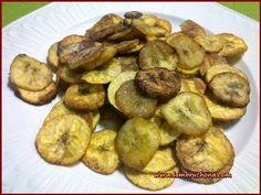 Chips de plátanos fritos. Lambruchona.