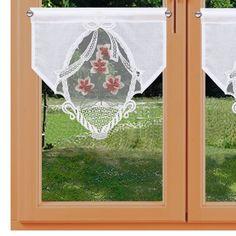 Landhaus-Scheibenhänger Rose Natur mit Besticktem Organza-Einsatz Lachs-Grün