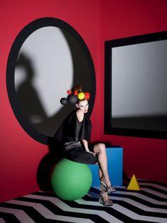 "The NY Times T Style Women's Spring 2010""Le Cirque"" Model: Malgosia Bela Photographer: Solve Sundsbo"