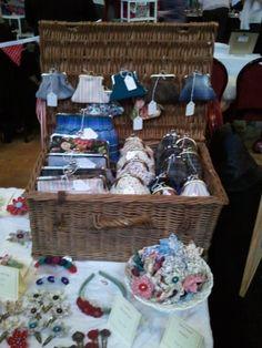 Handmade by Bunny Bosworth: Hamper of Purses #craft #fair #display #stall #booth #handmade