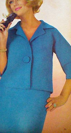 Vintage Crochet One Button Suit Pattern for New by MAMASPATTERNS, $3.50