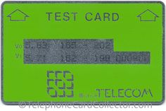 British Telecom (BT) Optical Cardphone Test Cards and Gyr, Test Card, British, Cards, Maps, Playing Cards, England