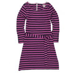 ORCHID STRIPE BUTTON CUFF WOMEN'S DRESS | THE LUCKY KNOT
