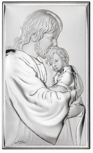 Srebrny Obrazek Jezus Chrystus - (VL81286) [PasazHandlowy.eu]