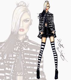 #Hayden Williams Fashion Illustrations #Gwen Stefani 'Spark the Fire' by Hayden Williams