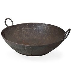 Vintage Iron Cauldron (491565101), Wood Wall Art, Wall Planters, Wreaths & More | bambeco