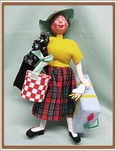 Vintage Klumpe Doll from Spain The Shopaholic Lady Shopper
