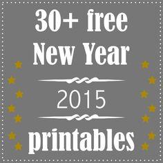 30 + free printable New Year's Eve decoration and gifts - Silvester Druckvorlagen - round-up | free paper downloads – MeinLilaPark | Bloglovin'