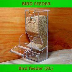 Bird Tools Automatic feeders Starling Parrot Bird equipment Diet Tools Small Bird Feeder Transparent New Bird food containers