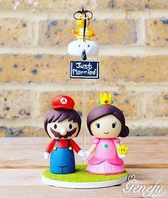 Para um casamento nerd 💗 #mariobros #mario #casamentonerd #weddinggeek #geek…