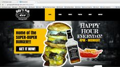 """Designers Gotta Eat Too!!! Our latest """"Burgers  Beer"""" Joint Website!"""