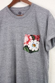 Add a cute accent pocket to a plain t-shirt for spring & summer looks